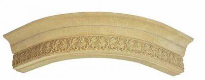 RS75-01-9 Карниз верхний полукруглый, с накаткой из древесной пасты, 109*88*420*420мм