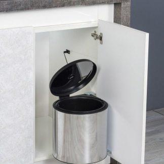 Ведро кухонное хром, S-2251 Starax