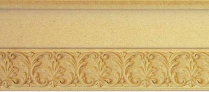 RS75-01-6 Карниз верхний, МДФ с накаткой из древесной пасты, 3680*129*30