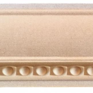 RS75-23-6 Карниз верхний, МДФ с накаткой из древесной пасты, 3680*125*30